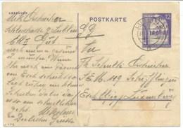 H277- CP D'un Travailleur Forcé Luxembourgeois Employé Dans Une Ferme - LUBLIN Pour ESCH ALZIG 1943 - - 1940-1944 Deutsche Besatzung