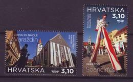 Croatia 2018 Y Tourism Varazdin Street Festival Spancirfest Churches MNH - Croazia