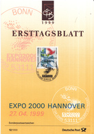 West-Duitsland - Ersttagsblatt - 12/1999 - Weltausstellung EXPO 2000, Hannover - Michel 2042 - [7] West-Duitsland