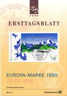 West-Duitsland - Ersttagsblatt - 16/1999 - National- Und Naturparks (III): Berchtesgaden - Michel Bl47 - [7] West-Duitsland
