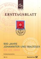 West-Duitsland - Ersttagsblatt - 17/1999 - 900 Jahre Johanitter- Und Malteserporden - Michel 2047 - [7] West-Duitsland