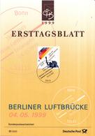 West-Duitsland - Ersttagsblatt - 17/1999 - 50 Jahrestag Der Beeindigung Der Blockade Berlins - Michel 2048 - [7] West-Duitsland