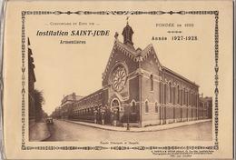 Ecole Institution Saint Jude à Armentières Nord Année 1927 - 1928 - Books, Magazines, Comics