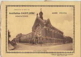 Ecole Institution Saint Jude à Armentières Nord Année 1933 - 1934 - Livres, BD, Revues