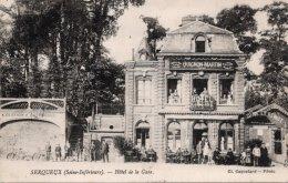 CPA    76  SERQUEUX---HOTEL DE LA GARE---GUIGNON MARTIN---1926 - Frankrijk