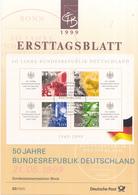 West-Duitsland - Ersttagsblatt - 20/1999 - 50 Jahre Bundesrepubliek Deutschland  - Michel Bl49 - [7] West-Duitsland