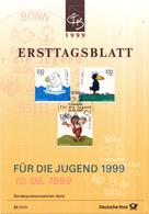 West-Duitsland - Ersttagsblatt - 21/1999 - Jugend: Trickfilmfiguren (II) - Michel 2055-2057 - [7] West-Duitsland