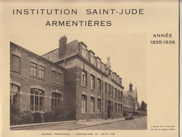 Ecole Institution Saint Jude à Armentières Nord Année 19335 - 1936 - Books, Magazines, Comics