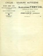 PORT-LOUIS   Alexandre VERVIAL Cycles Soudure Autogène - 1900 – 1949
