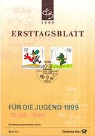 West-Duitsland - Ersttagsblatt - 21a/1999 - Jugend: Trickfilmfiguren (II) - Michel 2058-2059 - [7] West-Duitsland