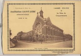 Ecole Institution Saint Jude à Armentières Nord Année 1931 - 1932 - Livres, BD, Revues