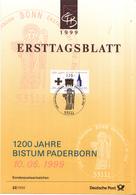 West-Duitsland - Ersttagsblatt - 22/1999 - 1200 Jahre Bistum Paderborn - Michel 2060 - [7] West-Duitsland