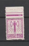 FRANCE / 1942 / Y&T SERVICE N° 3 : Francisque 40c Lilas - Neuf Sans Gomme (n'existe Pas En Oblitéré) - Usados