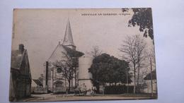 Carte Postale (E6) Ancienne De Louville La Chenard , L église - Other Municipalities