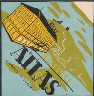 Etiquette Gommée Pour L'hôtel ATLAS à Kuopio - Finlande. - Werbung