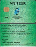 GEMPLUS CARTE PERSONNELLE De VISITEUR à LA SOCIETE N° 70010 - France