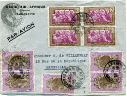 MADAGASCAR LETTRE PAR AVION DEPART TANANARIVE 19-3-39 MADAGASCAR POUR LA FRANCE - Madagascar (1889-1960)
