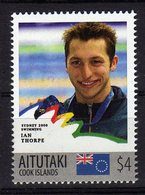Sydney Olympics 2000 Mnh Stamp With Gold Medal Winner Ian Thorpe.Swimming. Aitutaki 4$ - Summer 2000: Sydney - Paralympic