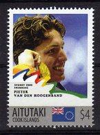 Sydney Olympics 2000 Mnh Stamp With Gold Medal Winner Pieter Van Den Hoogenband.Swimming. Aitutaki 4$$ - Summer 2000: Sydney - Paralympic