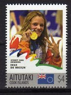 Sydney Olympics 2000 Mnh Stamp With Gold Medal Winner Inge De Bruijn.Swimming. Aitutaki 4$$ - Summer 2000: Sydney - Paralympic