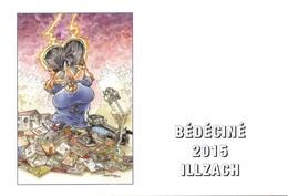 BEDECINE 2015 ILLZACH & MAËSTER : Carte Postale Officielle Du Festival De Bande Dessinée - Comics