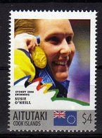 Sydney Olympics 2000 Mnh Stamp With Gold Medal Winner Susie O,Neill.Swimming. Aitutaki 4$$ - Summer 2000: Sydney - Paralympic