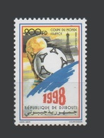 DJIBOUTI 1998 Michel Mi 664 SOCCER WORLD CUP COUPE DU MONDE DE FOOTBALL FRANCE TOUR EIFFEL TOWER- RARE - MNH ** - Djibouti (1977-...)