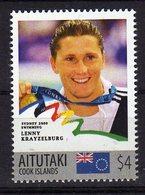 Sydney Olympics 2000 Mnh Stamp With Gold Medal Winner Lenny Krayzelburg.Swimming. Aitutaki 4$$ - Summer 2000: Sydney - Paralympic