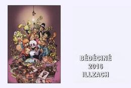 BEDECINE 2016 ILLZACH & Dan VERLINDEN : Carte Postale Du Ferstival De Bande Dessinée Comics Strip Cartoon Bédé - Comics