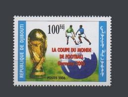 DJIBOUTI 2006 Michel Mi 807A A807 807 SOCCER WORLD CUP COUPE DU MONDE DE FOOTBALL GERMANY ALLEMAGNE - RARE - MNH ** - Djibouti (1977-...)