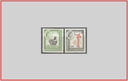 Rhodesia E Nyasaland 1959/62 Cat. 19a/20a (MNH **) Serie Ordinaria - Ordinary Series (009920) - Rhodesia & Nyasaland (1954-1963)