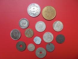 LOT DIVERS 14 JETONS-MEDAILLES(ANCIENS-RECENTS). A SAISIR ! - Jetons & Médailles
