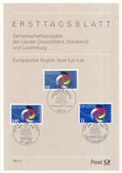 West-Duitsland - Ersttagsblatt - 40/1997 - Europäische Region Saar-Lor-Lux - Michel 1957 - Gezamelijke Uitgaven