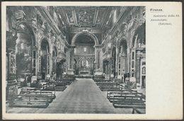 Santuario Della SS Annunziata, Firenze, Toscana, C.1910 - Naldi Cartolina - Firenze