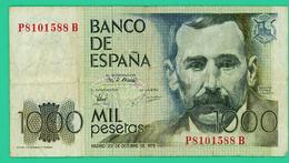 1000 Pesetas - Espagne - N°. P8101588B - 1979 - TB+ - - [ 4] 1975-… : Juan Carlos I