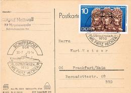 Schiffspost DDR 30.7.70 Ostseereisen 1970 TMS Fritz Heckert - DDR