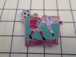 Pin511a Pin's Pins / Beau Et Rare : Thème SPORTS / MATCH FOOTBAL OLYMPIQUE MARSEILLE CSKA MOSCOU LE PROVENCAL - Calcio