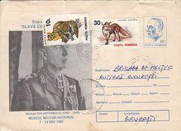 MILITARIA, MARSHALL ION ANTONESCU, COVER STATIONERY, 1995, ROMANIA - Militaria