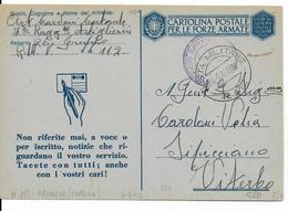 1943 - OCCUPATION ITALIENNE En CORSE - POSTE MILITAIRE N°112 (BASTIA) Sur CARTE FM ILLUSTREE - Marcophilie (Lettres)