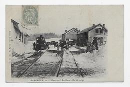 07 Dép.- ST-Agrève.- 5 Mars 1905. La Gare, Effet De Neige. E. Vérilhac, ST Agrève (reprod. Interd) Carte Postale Ayant V - Saint Agrève