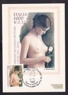 ITALIE 2000 FDC Premier Jour - Lutte Contre Le Cancer Du Sein 2405-2406 - Cartoline Maximum