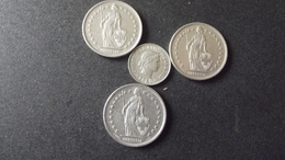 Lots Monnaies Suisse - Coins & Banknotes