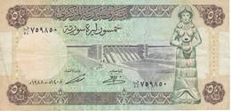 BILLETE DE SIRIA DE 50 POUNDS DEL AÑO 1988 (BANKNOTE) - Siria