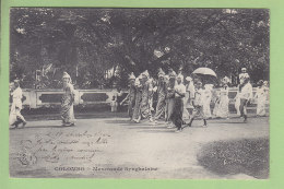 COLOMBO : Mascarade Synghalaise. Ceylan, Sri Lanka. TBE. Dos Simple. 2 Scans. - Sri Lanka (Ceylon)