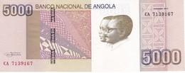 BILLETE DE ANGOLA DE 5000 KWANZAS DEL AÑO 2012 SIN CIRCULAR-UNCIRCULATED (BANKNOTE) - Angola