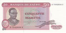BILLETE DE ZAIRE DE 50 MAKUTA DEL AÑO 1979 (BANKNOTE) SIN CIRCULAR-UNCIRCULATED - Zaire