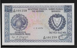 Chypre -  250 Mil - 1-9-1979 - Pick N°41 - NEUF - Chipre