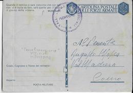 ANNEXION ITALIENNE De MENTON (ALPES MARITIMES) - CARTE FM Avec CACHET Du BUREAU DES CONVALESCENTS RARE MAIS NON UTILISEE - Postmark Collection (Covers)