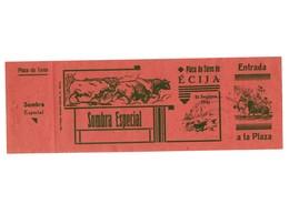 ANTIGUA ENTRADA OLD TICKET CORRIDA DE TOROS PLAZA DE ÉCIJA (SEVILLA) ESPAÑA SPAIN BULLFIGHTING TOREO TORERO AÑO 1941 VER - Tickets - Entradas