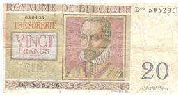 Billets > Belgique > 20 Francs 1956 - [ 2] 1831-... : Royaume De Belgique